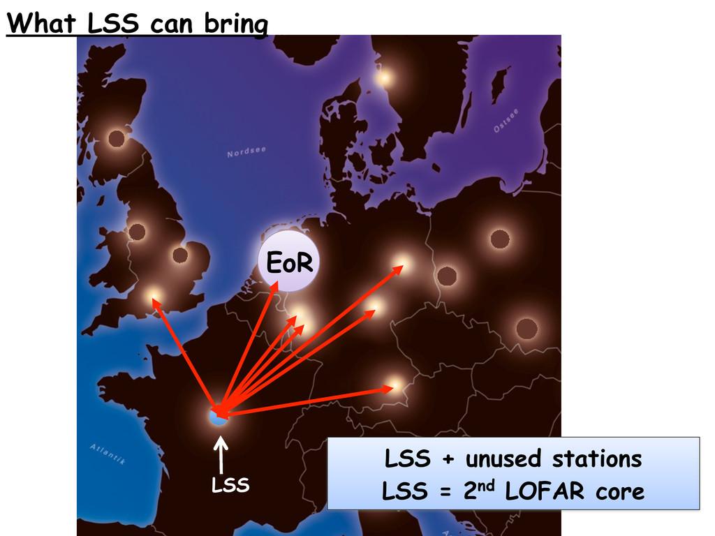 EoR LSS + unused stations LSS = 2nd LOFAR core ...