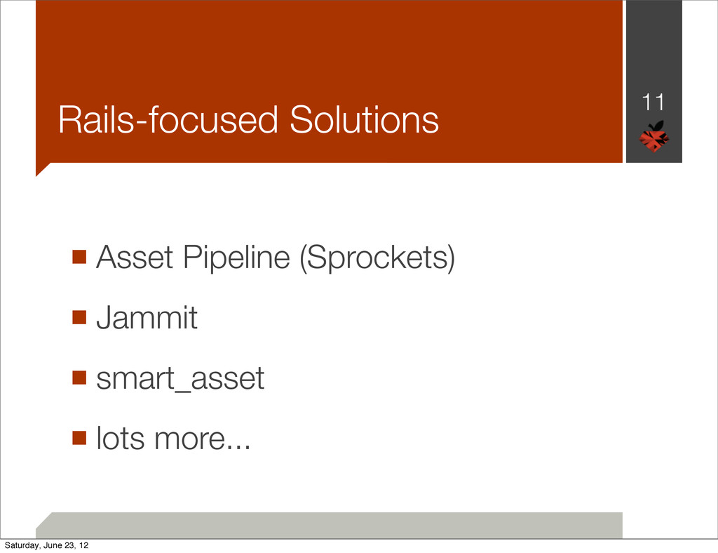 Rails-focused Solutions ■ Asset Pipeline (Sproc...