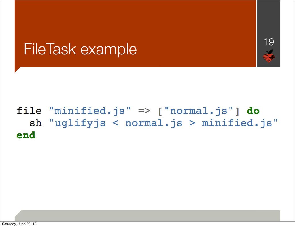 FileTask example 19 Saturday, June 23, 12