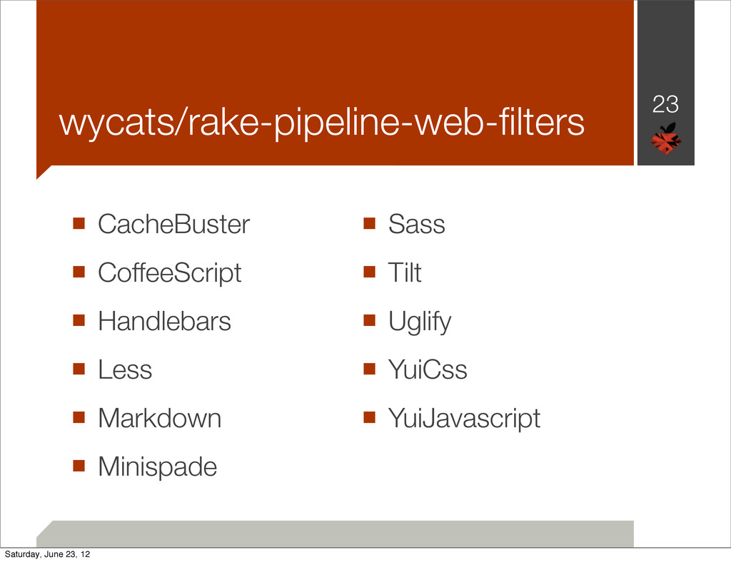 wycats/rake-pipeline-web-filters ■ CacheBuster ■...