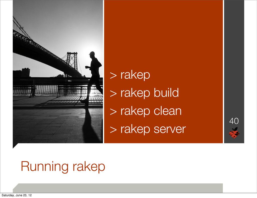 40 Running rakep > rakep > rakep build > rakep ...