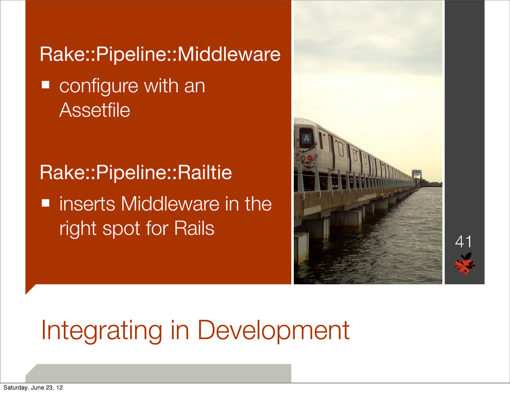Integrating in Development Rake::Pipeline::Midd...