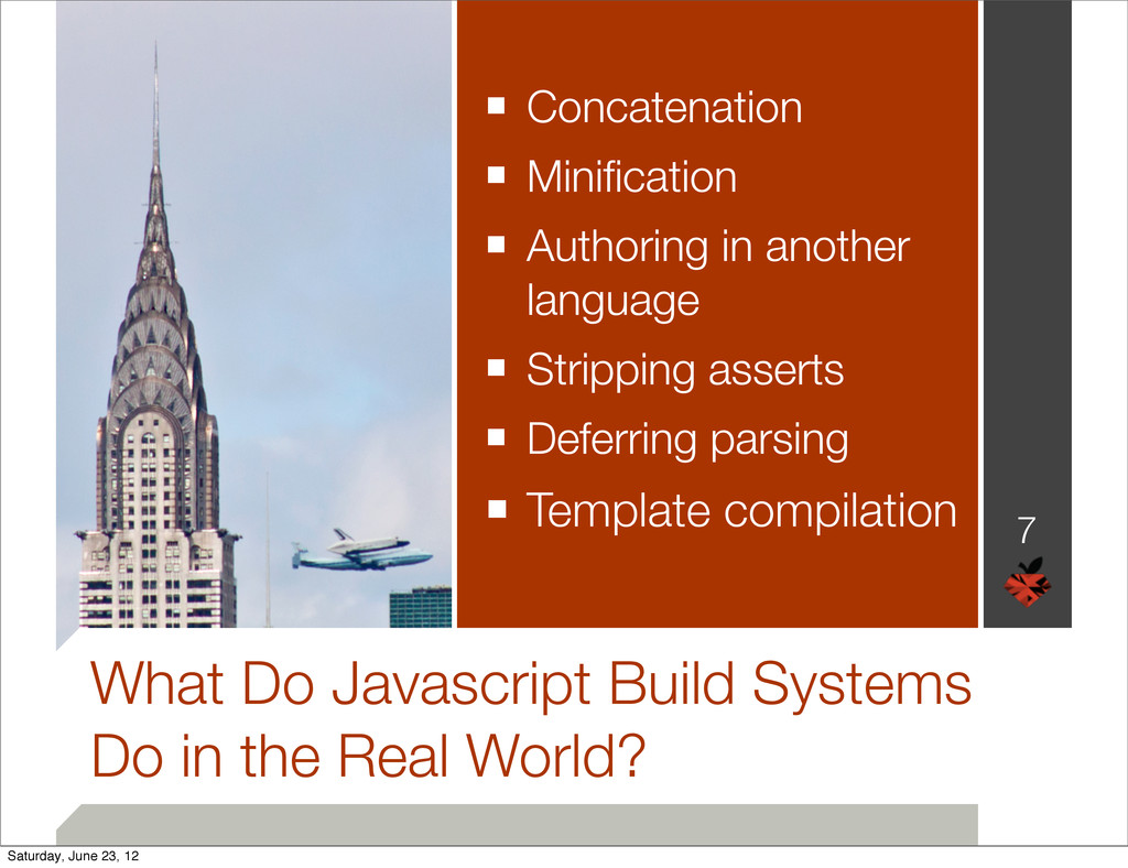 What Do Javascript Build Systems Do in the Real...