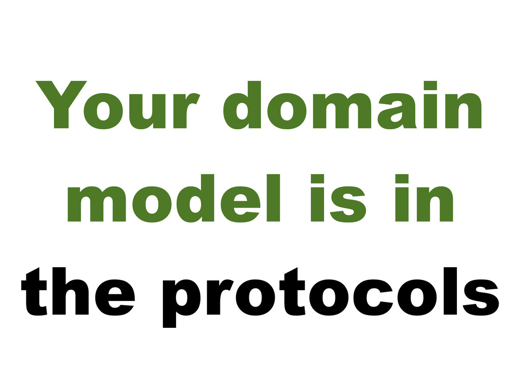 Your domain model is in the protocols