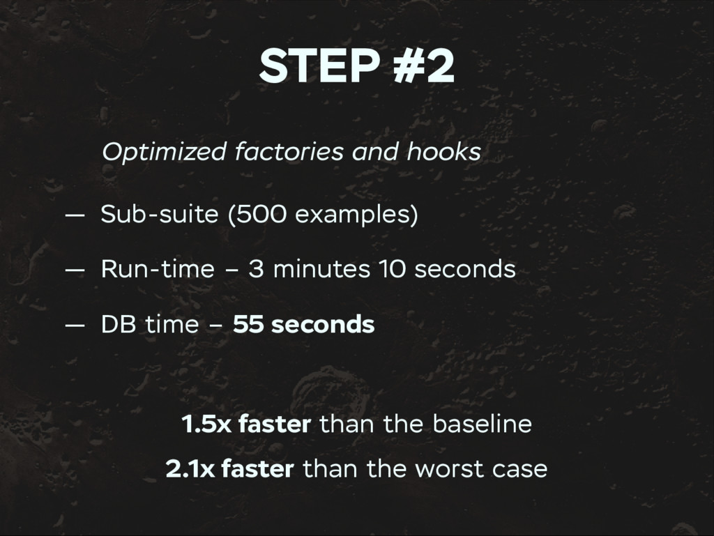 STEP #2 Optimized factories and hooks — Sub-sui...