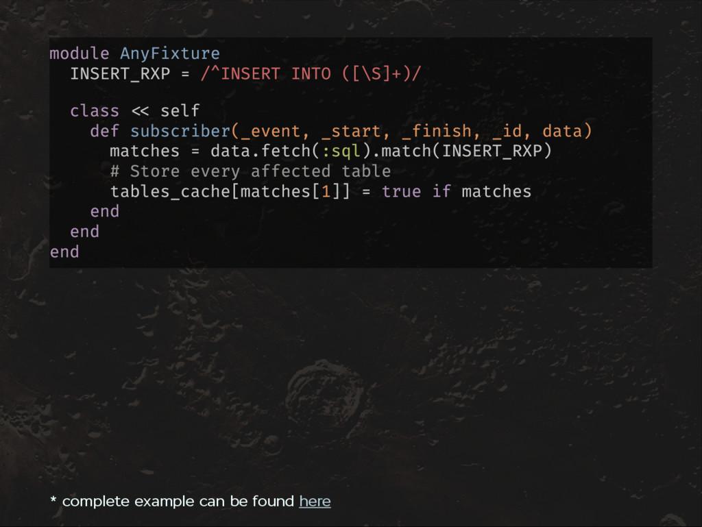 module AnyFixture INSERT_RXP = /^INSERT INTO ([...