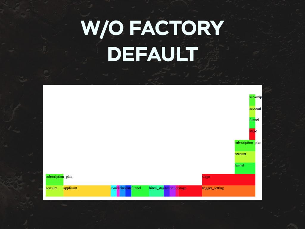 W/O FACTORY DEFAULT