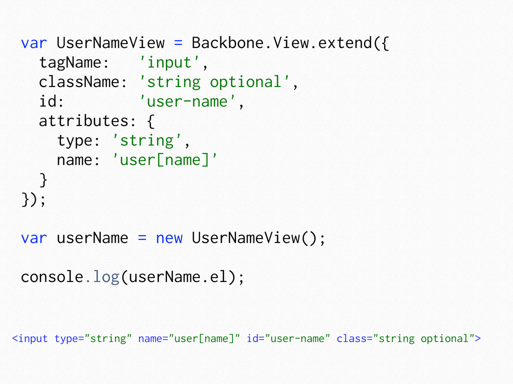 var UserNameView = Backbone.View.extend({ tagNa...