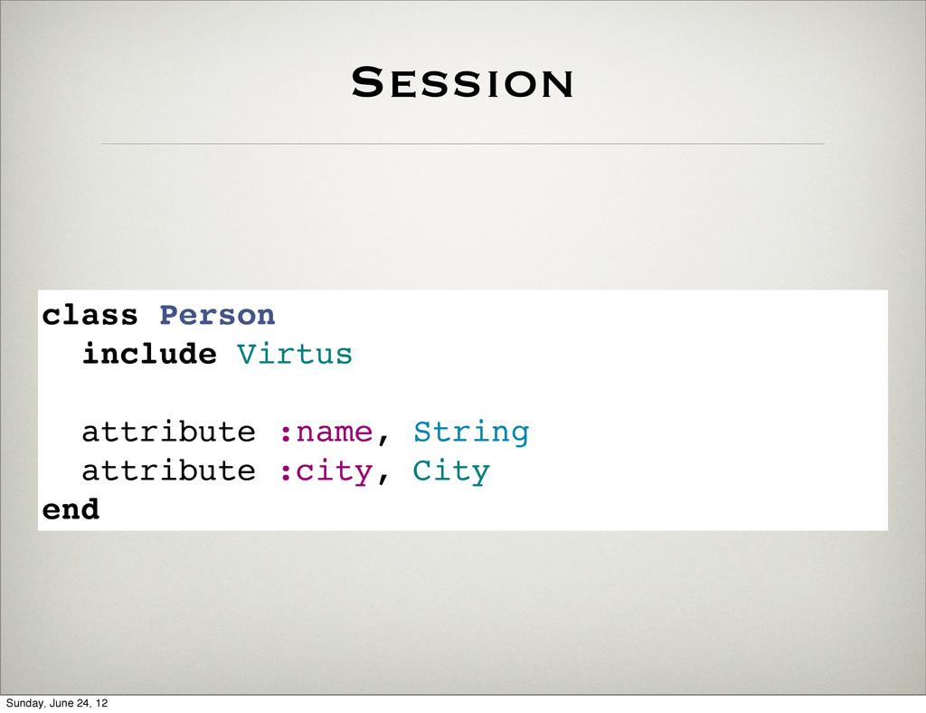 Session class Person include Virtus attribute :...