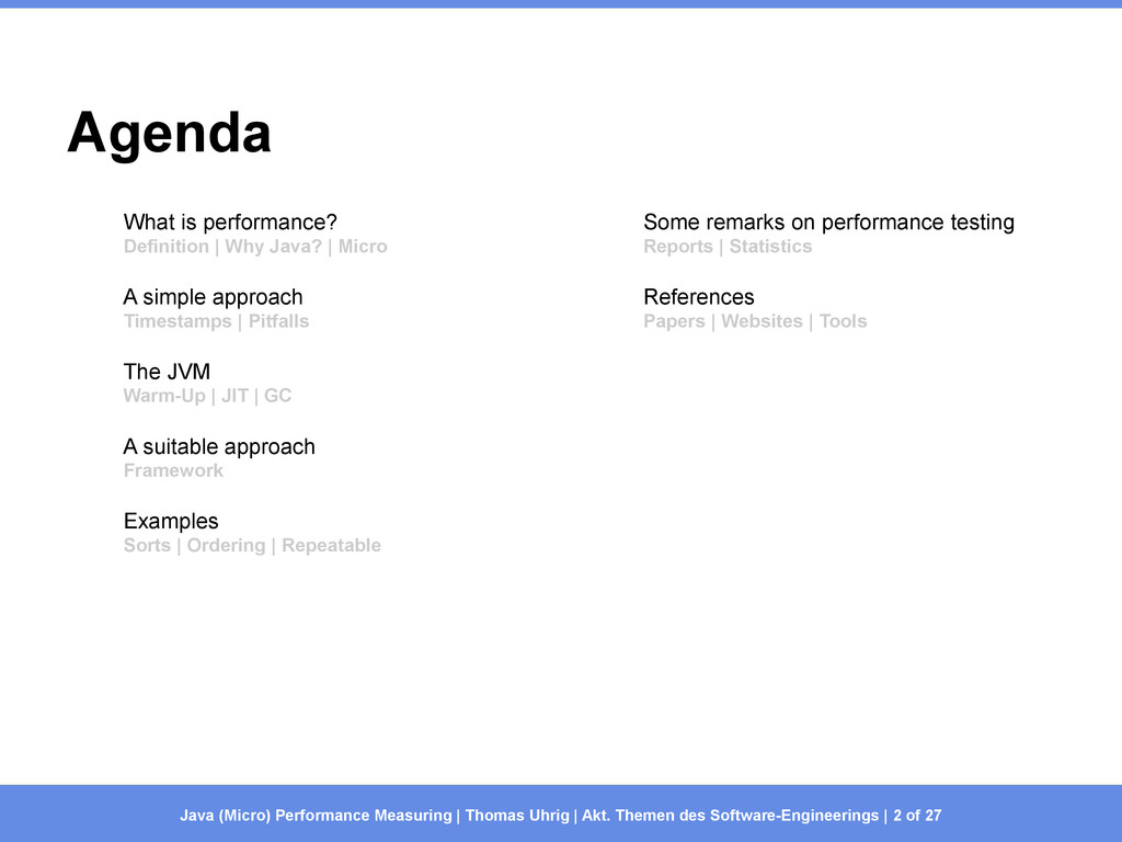 Agenda What is performance? Definition | Why Ja...