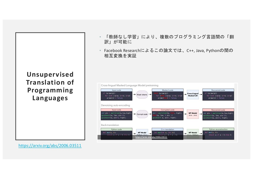 Unsupervised Translation of Programming Languag...