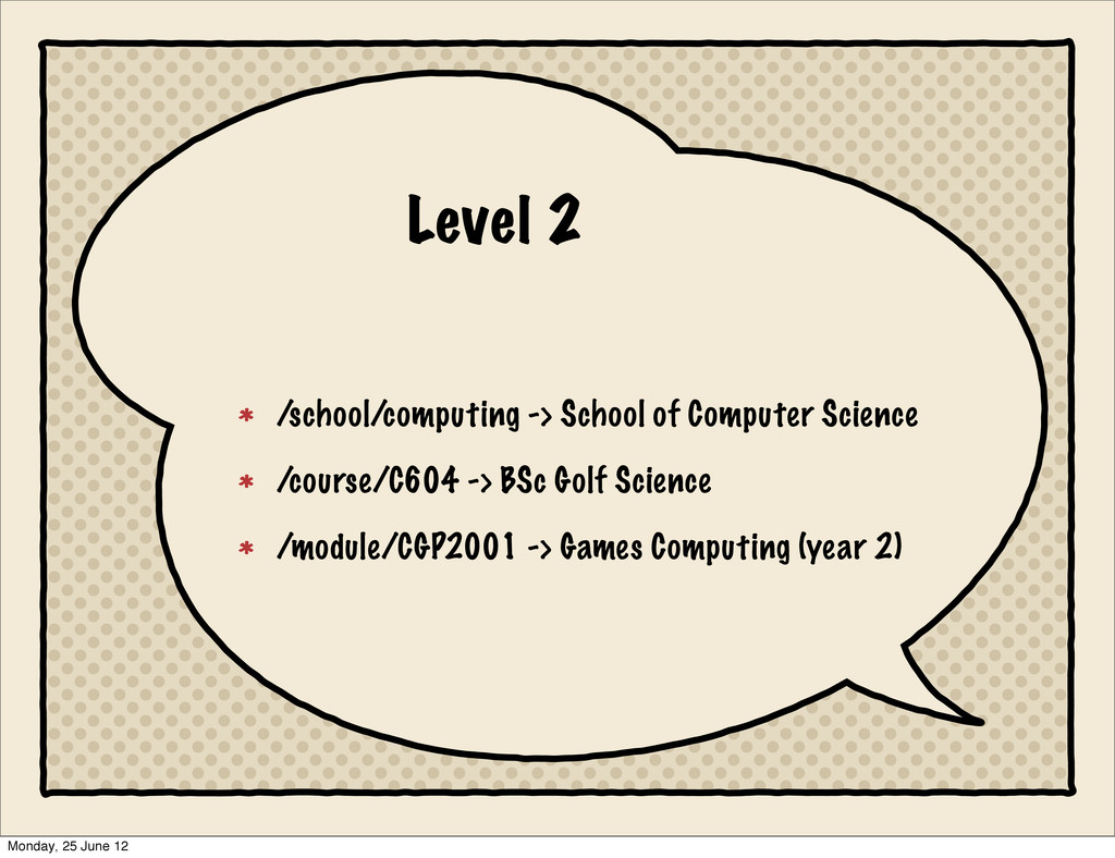 Level 2 /school/computing -> School of Computer...