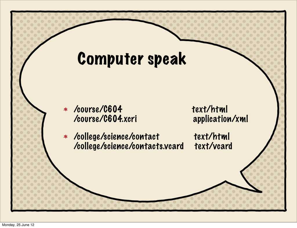 Computer speak /course/C604 text/html /course/C...