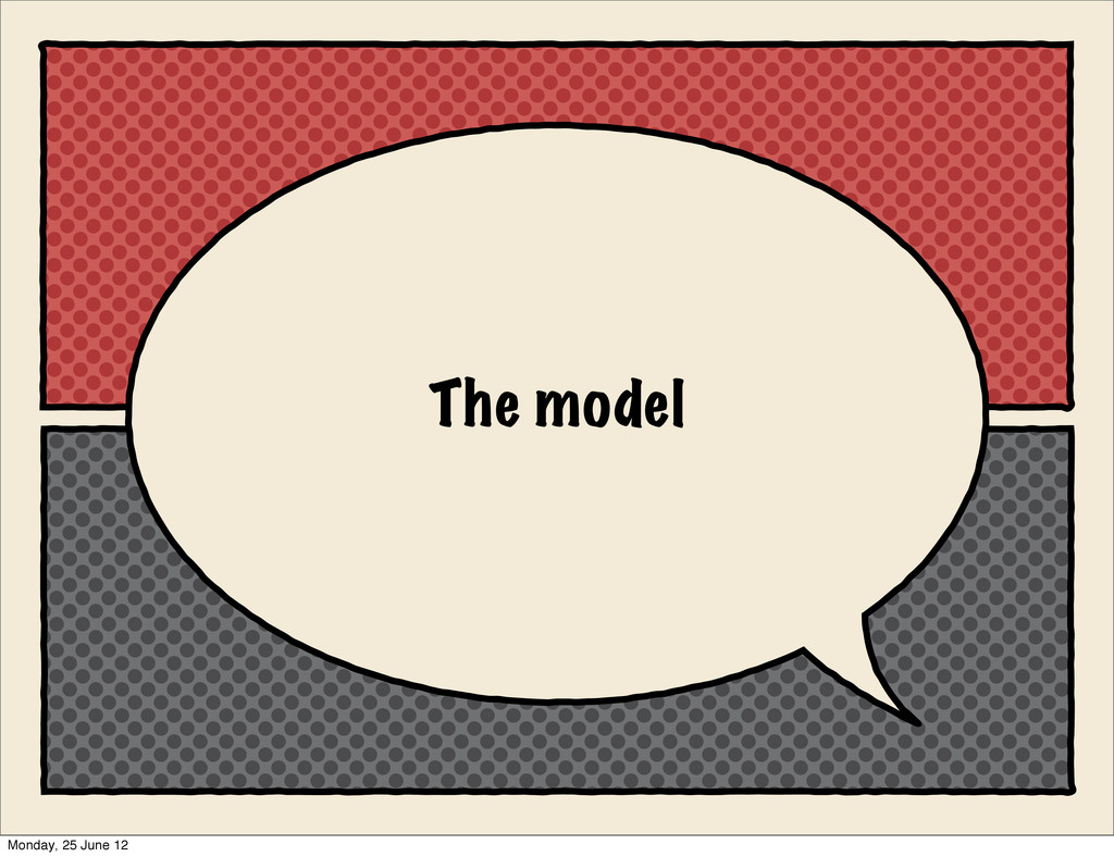 The model Monday, 25 June 12