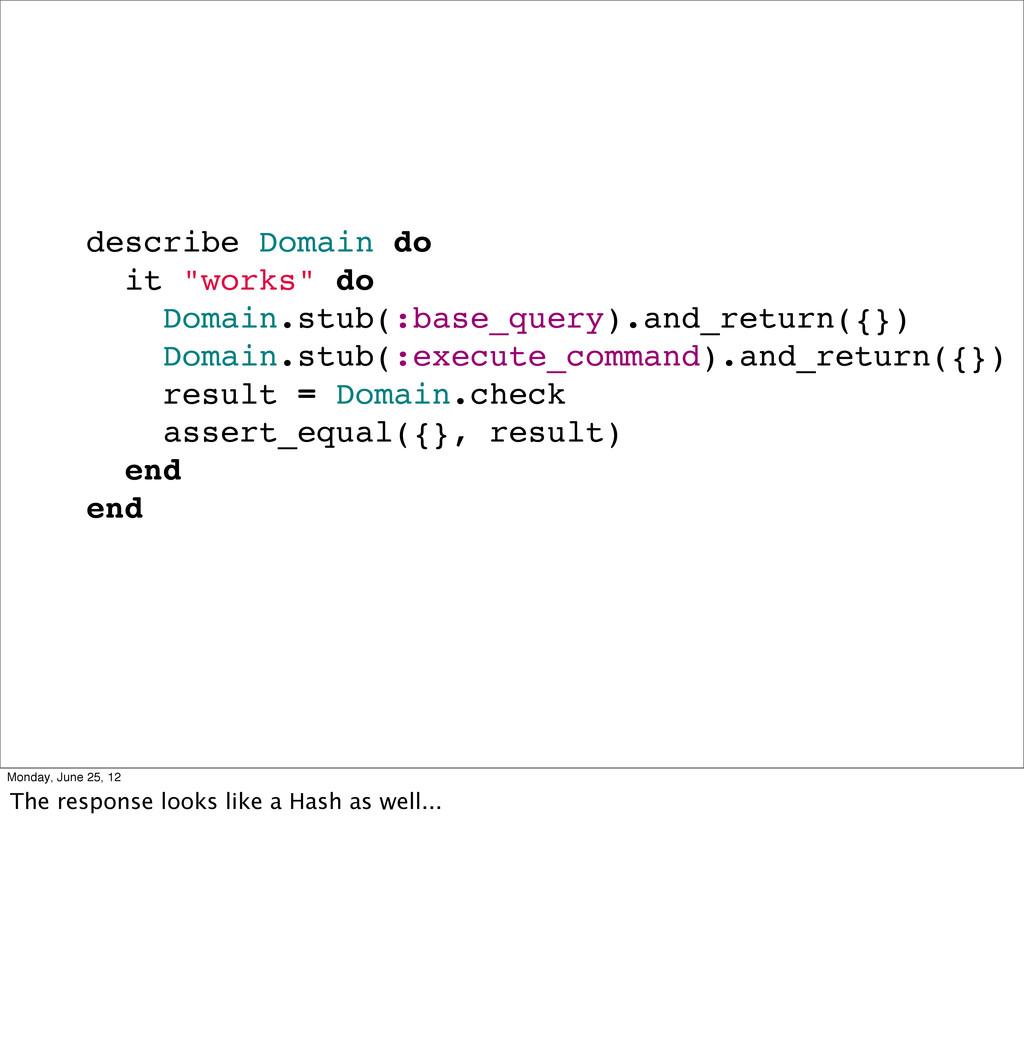 "describe Domain do it ""works"" do Domain.stub(:b..."
