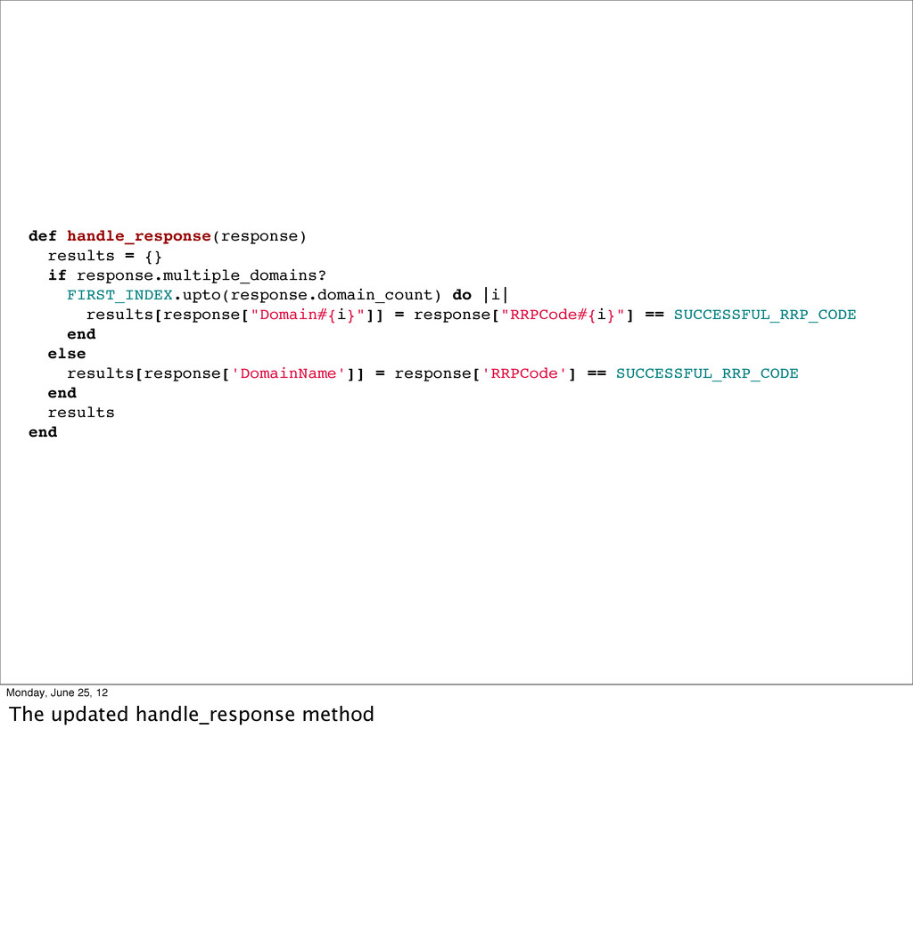 def handle_response(response) results = {} if r...