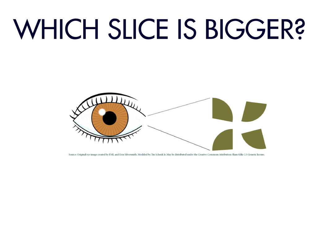 WHICH SLICE IS BIGGER?
