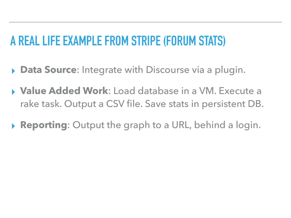 A REAL LIFE EXAMPLE FROM STRIPE (FORUM STATS) ▸...