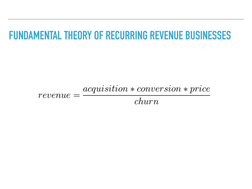 FUNDAMENTAL THEORY OF RECURRING REVENUE BUSINES...