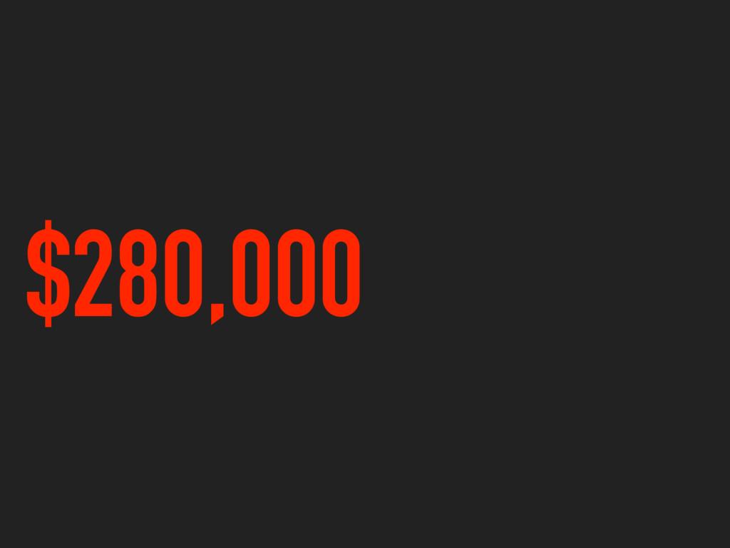 $280,000