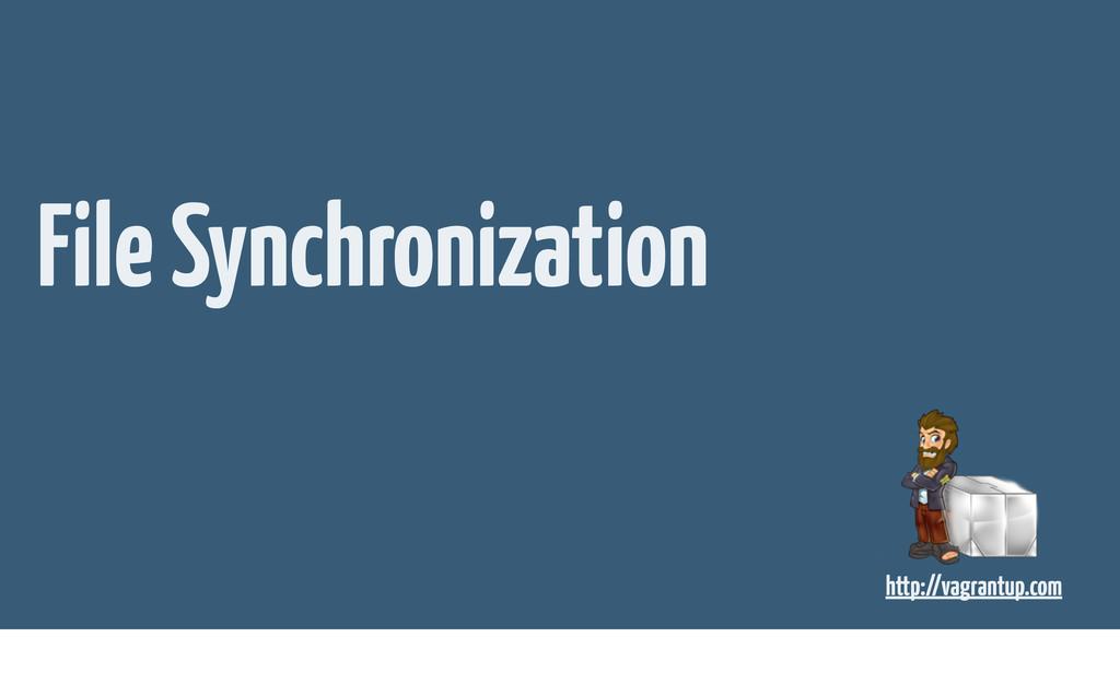 File Synchronization http://vagrantup.com