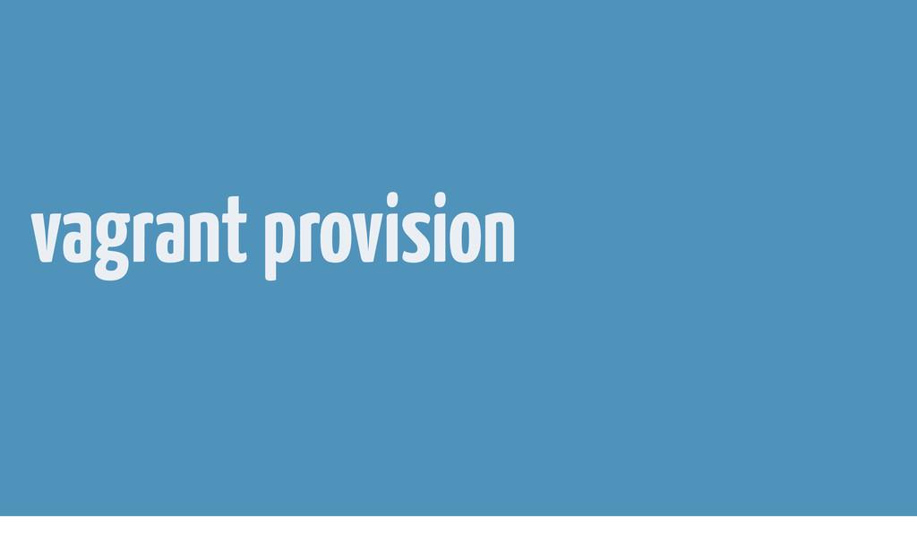 vagrant provision
