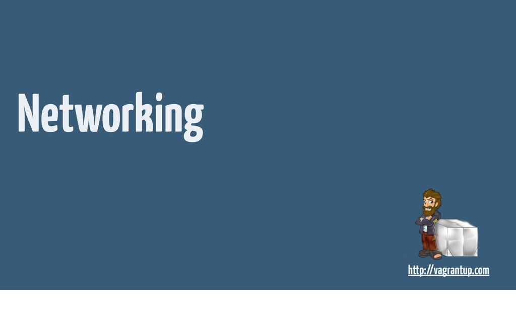 Networking http://vagrantup.com