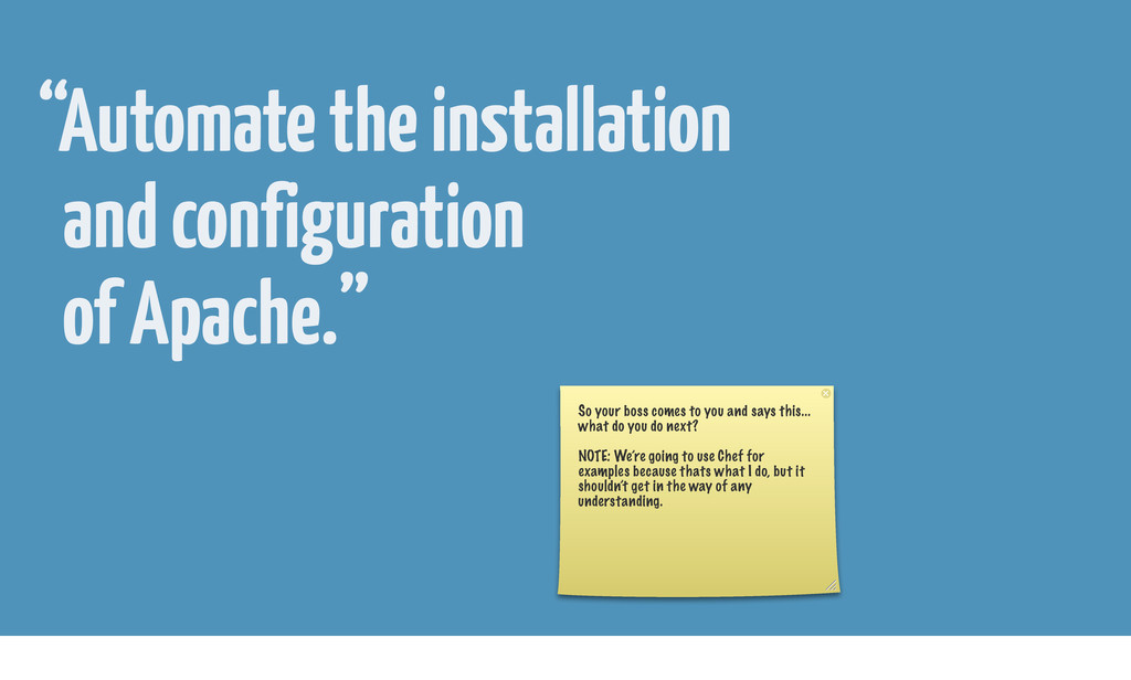 """""""Automate the installation and configuration of..."""
