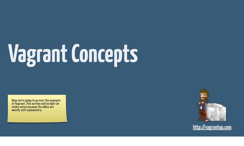 http://vagrantup.com Vagrant Concepts Now we're...