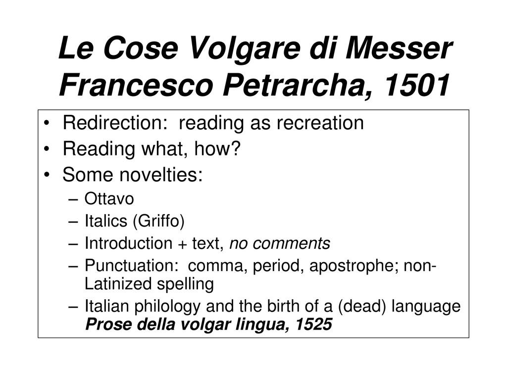 Le Cose Volgare di Messer Francesco Petrarcha, ...