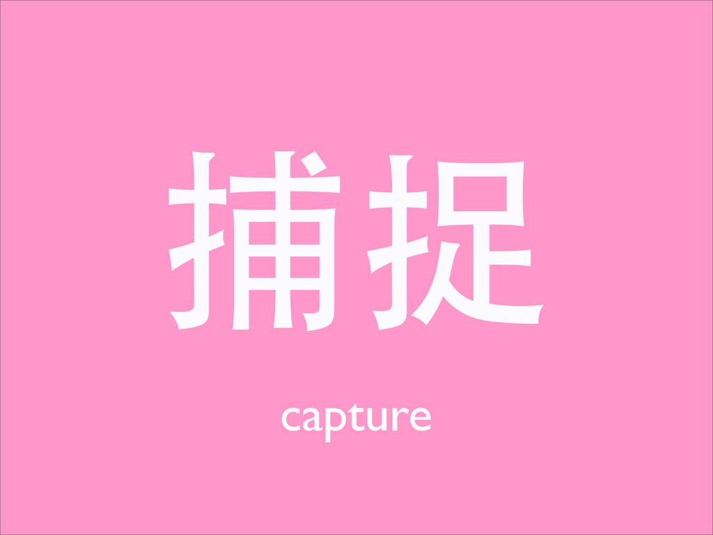 捕捉 capture