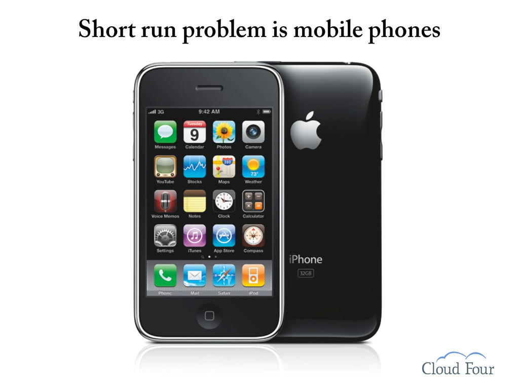 Short run problem is mobile phones
