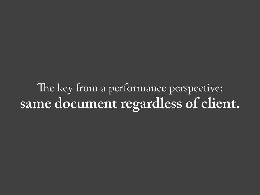 e key from a performance perspective: same docu...
