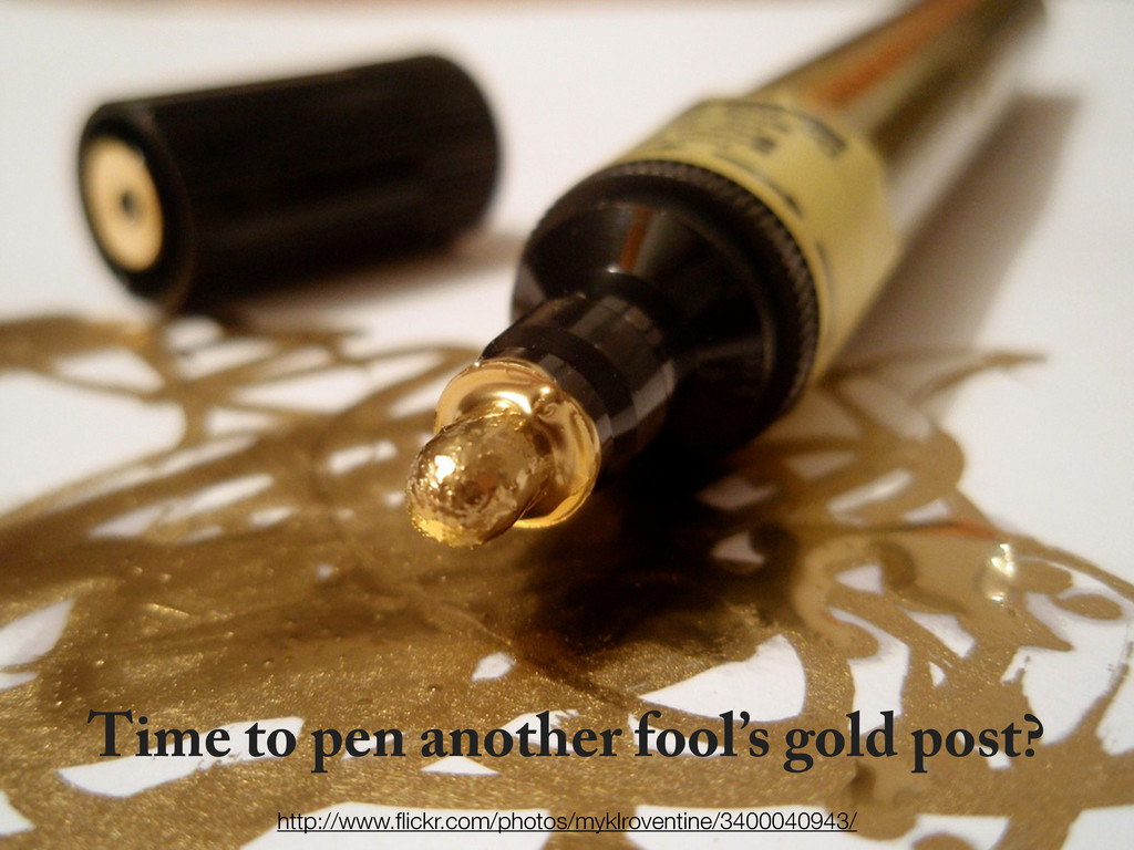 Time to pen another fool's gold post? http://ww...