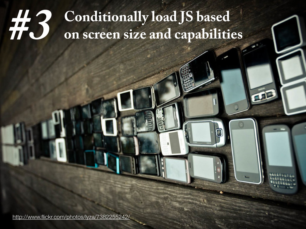 Conditionally load JS based on screen size and ...