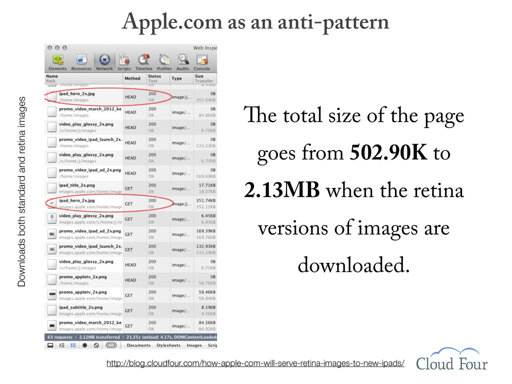 Apple.com as an anti-pattern Downloads both sta...