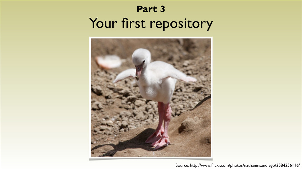Part 3 Your first repository Source: http://www....