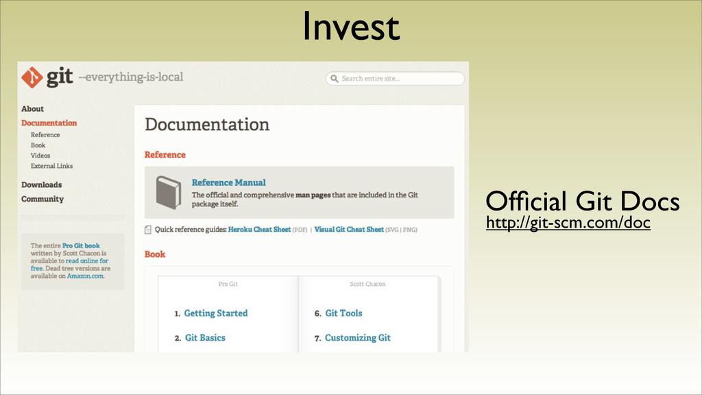 Invest Official Git Docs http://git-scm.com/doc