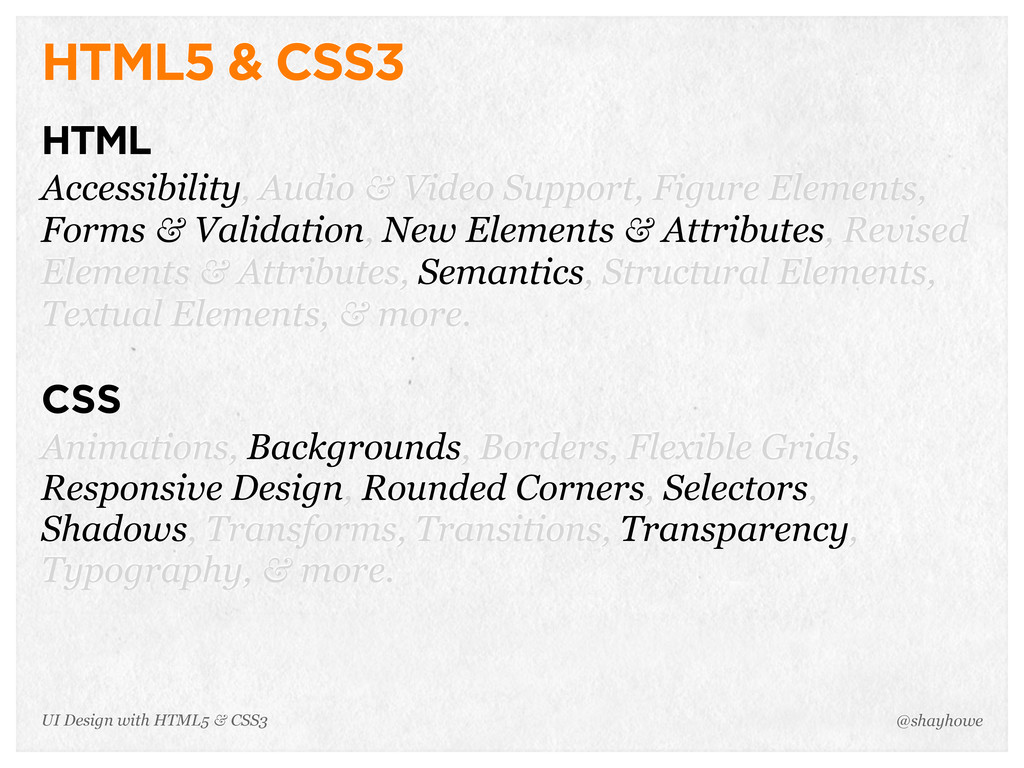 HTML5 & CSS3 HTML Accessibility, Audio & Video ...