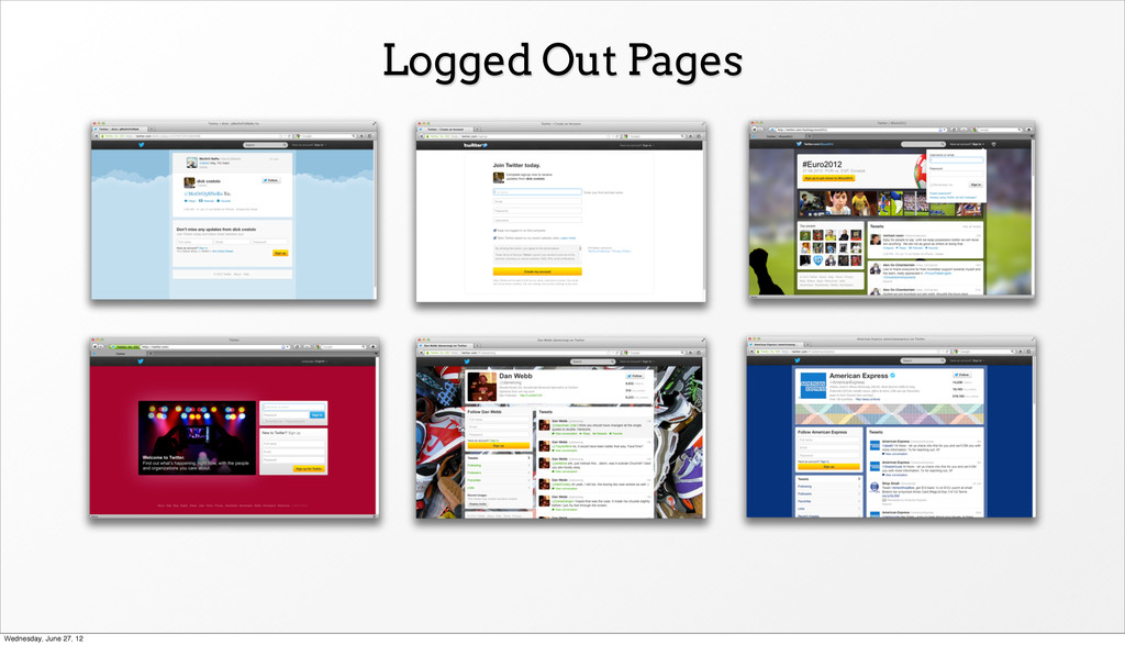 Logged Out Pages Wednesday, June 27, 12