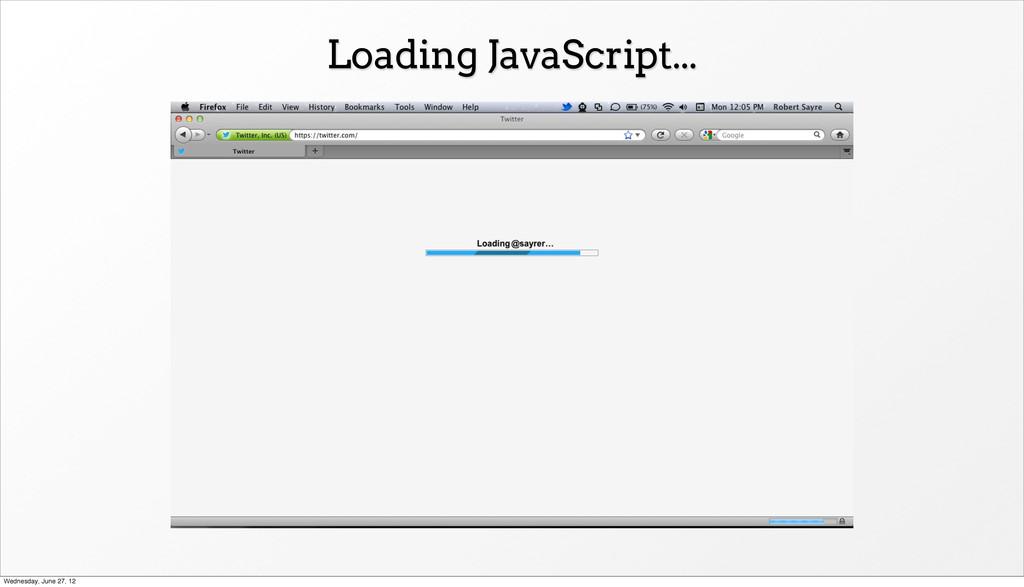 Loading JavaScript... Wednesday, June 27, 12