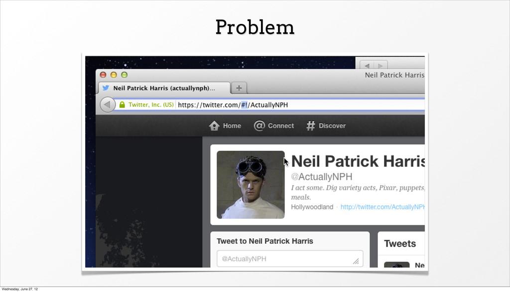 Problem Wednesday, June 27, 12