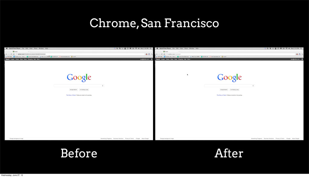 Chrome, San Francisco Before After Wednesday, J...