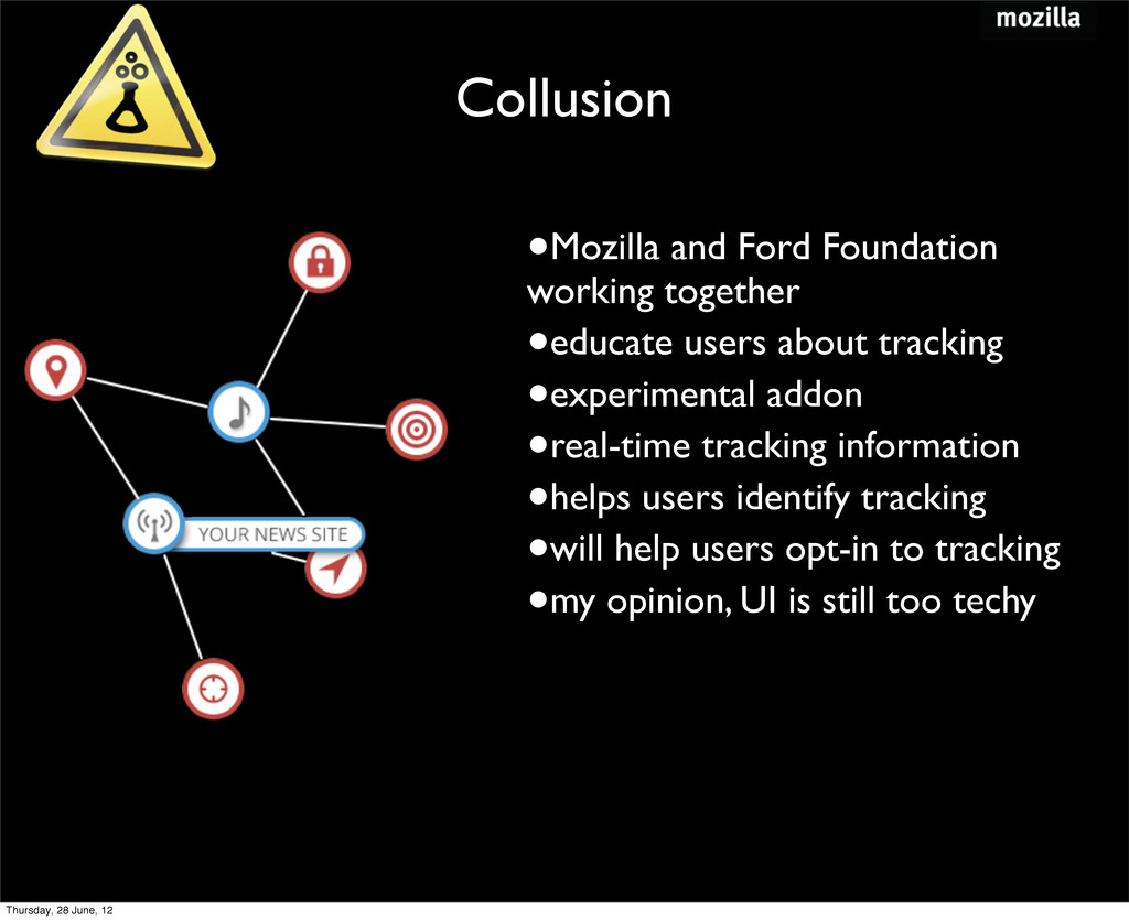 Collusion •Mozilla and Ford Foundation working ...