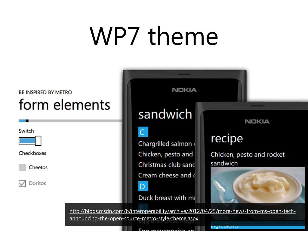 WP7 theme http://blogs.msdn.com/b/interoperabil...
