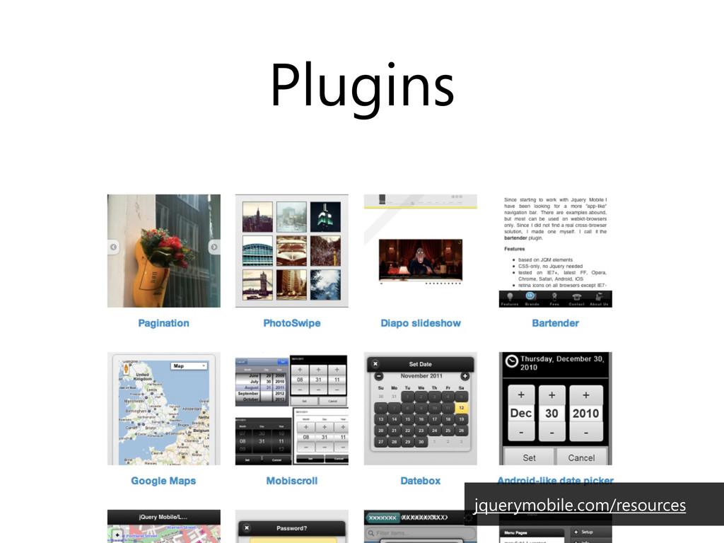 Plugins jquerymobile.com/resources