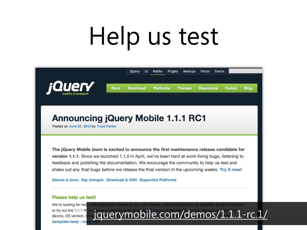 Help us test jquerymobile.com/demos/1.1.1-rc.1/