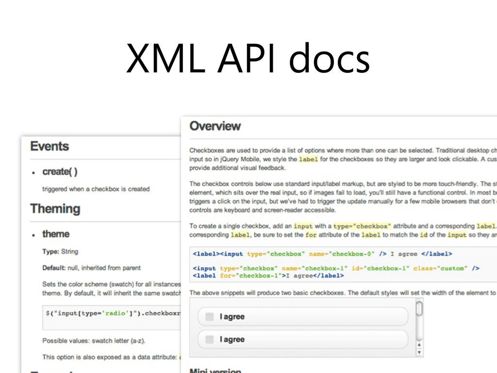 XML API docs