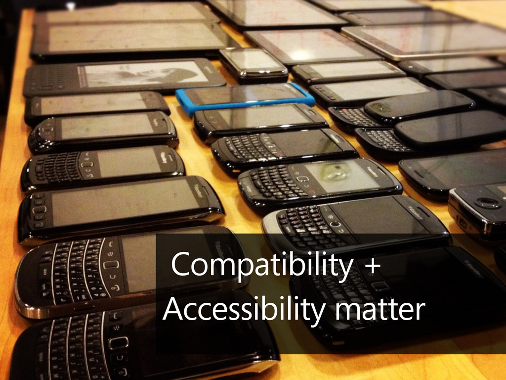 Compatibility + Accessibility matter