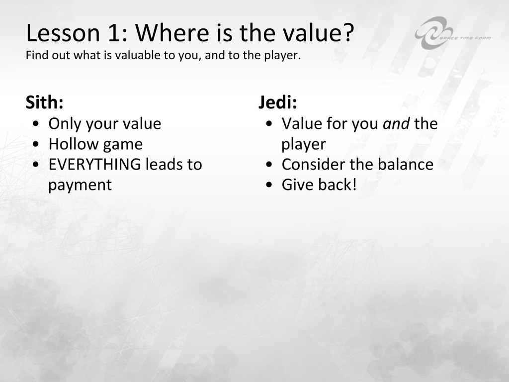Lesson 1: Where is the value? ...